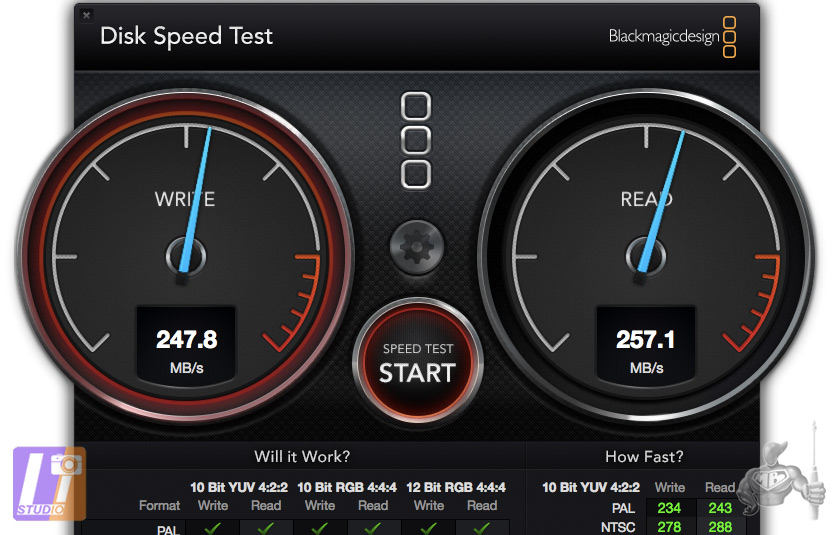 Test DiskSpeed Test G-RAID ThunderBolt