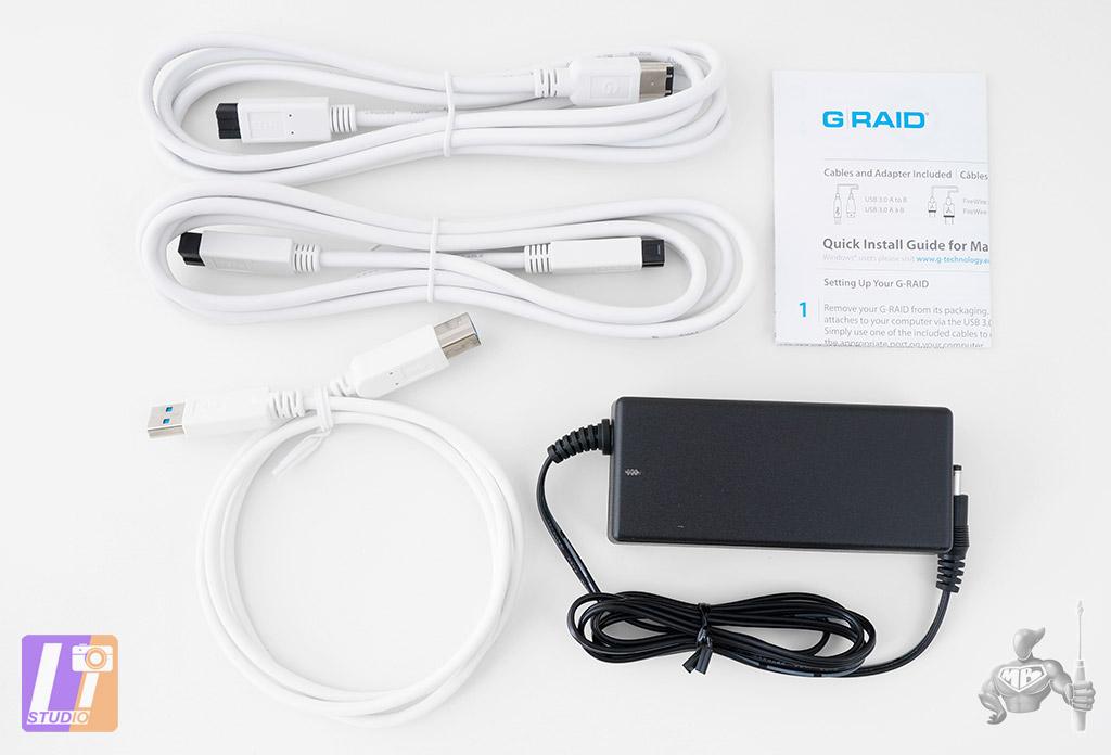 Câbles et alimentation G-RAID