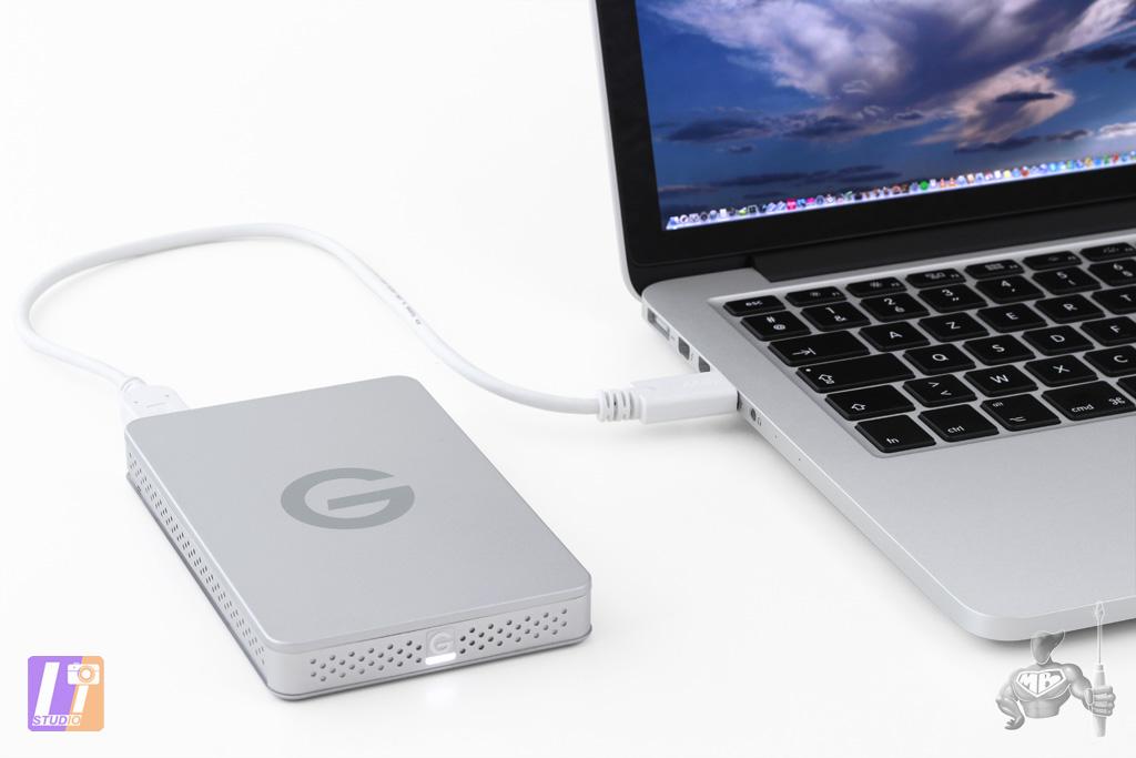 G-DRIVE ev and MacBook Pro Retina 13
