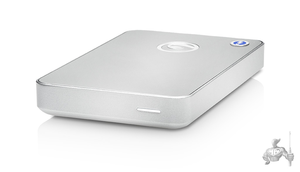 G-DRIVE Mobile Thunderbolt and USB 3.0 (front)