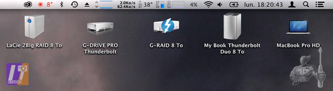 Systèmes RAID (dual disc) 8 To et G-DRIVE PRO