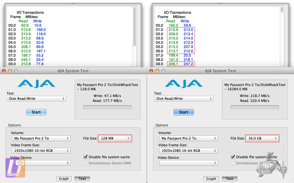 WD MY Passport Pro 2 Tb AJA System Test Results