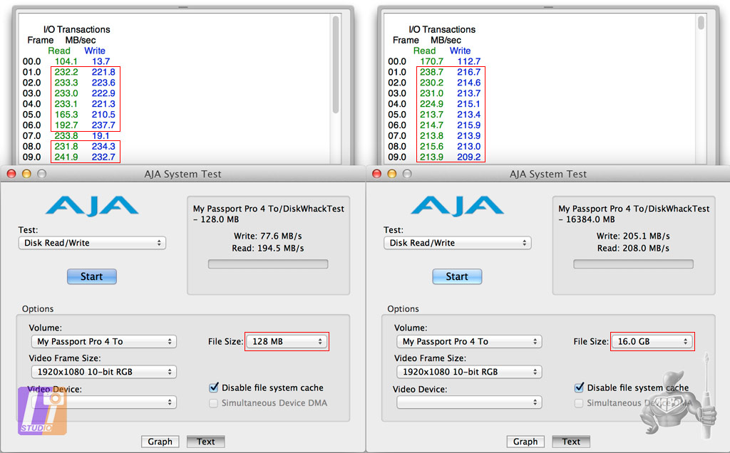 WD MY Passport Pro 4 Tb AJA System Test Results