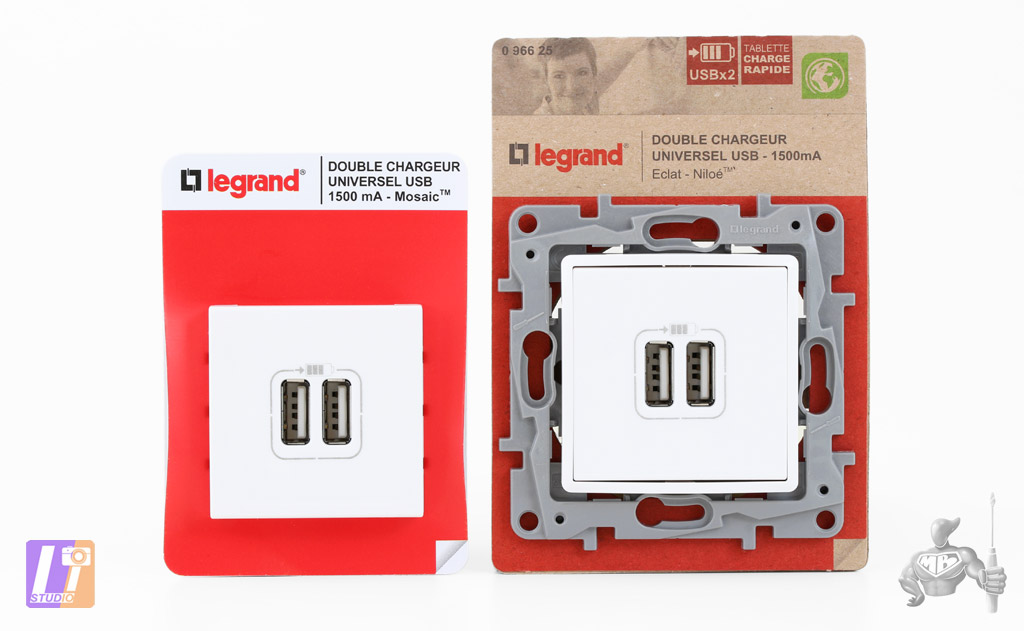 Doubles Chargeurs USB Modulaires LEGRAND