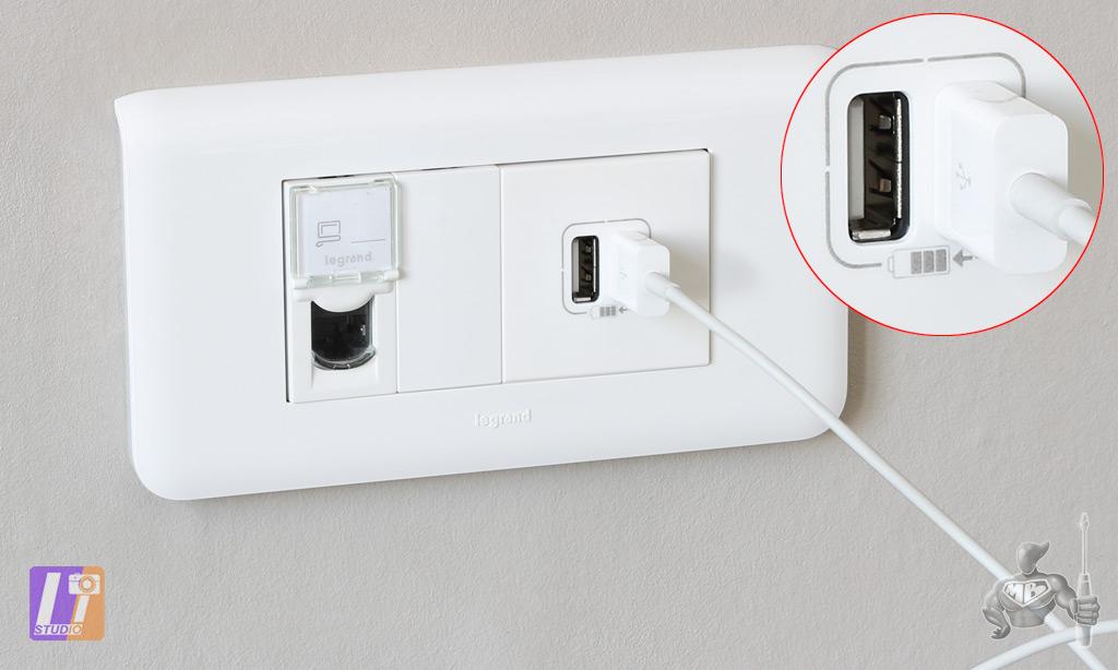 Installation du module Double Chargeur USB LEGRAND