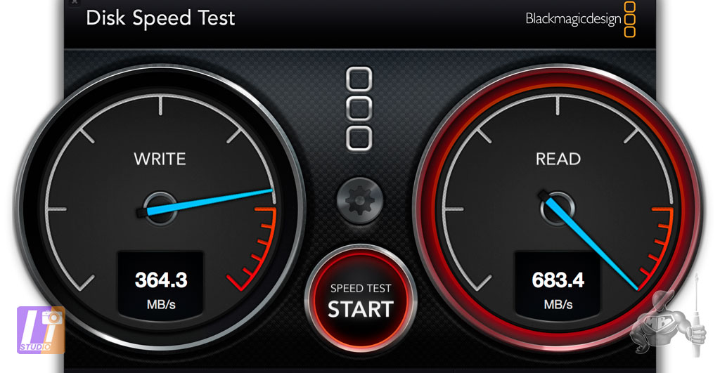 Speed Disk Test 2.2.2 Palm RAID 512 Go