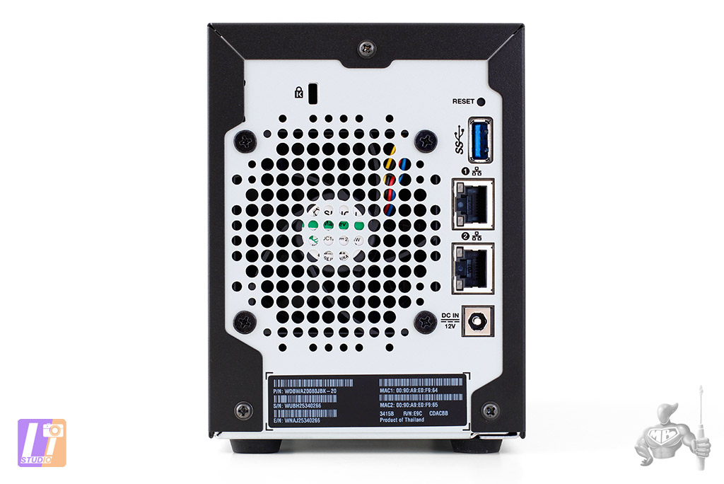WD My Cloud Expert EX2100 Back Side