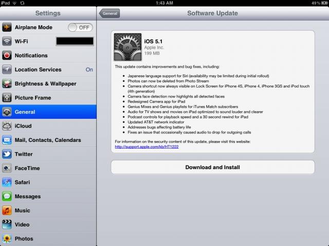 iOS 5.1 iPad
