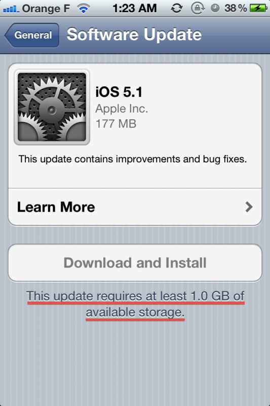 iOS 5.1 iPhone