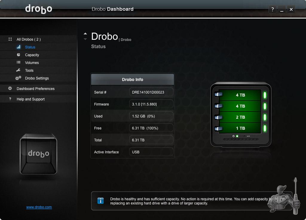 Drobo Software 3 Gen - Interface Drobo 3 7me Génération