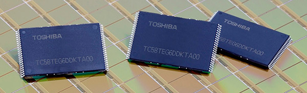 Toshiba démarre la production en masse de Flash NAND en 19nm