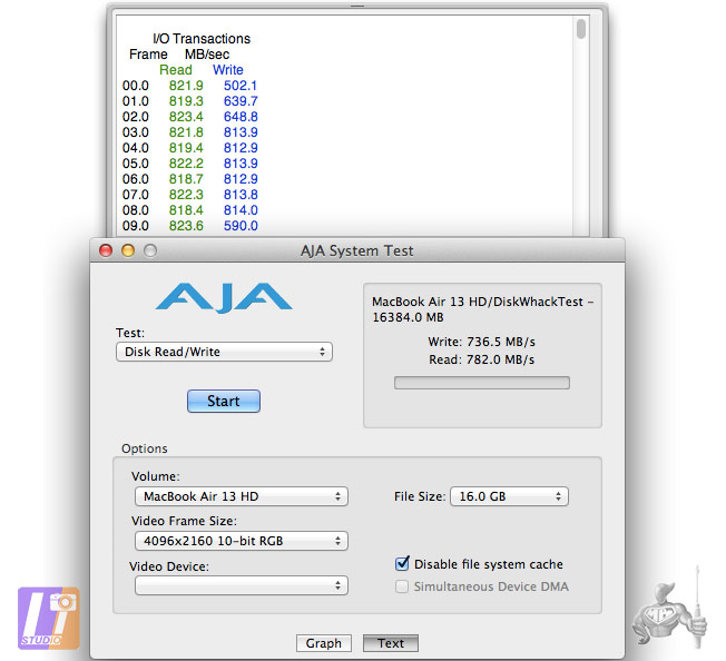 AJA System SSD Samsung 512 CTO MBA 13