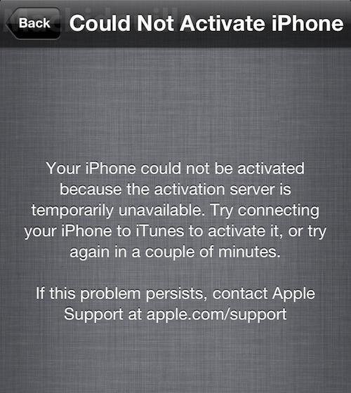 ios activation service down