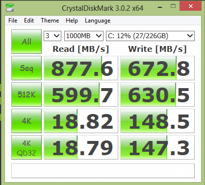 SSD Lite-On mSATA : performances