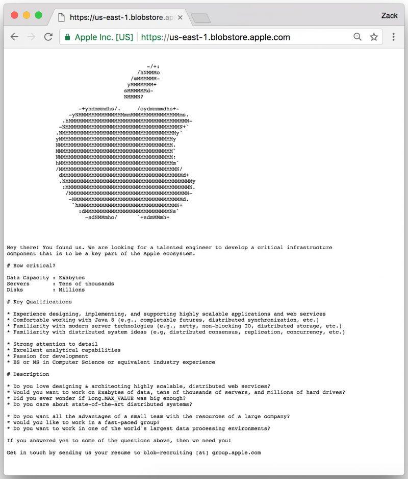Apple A Poste Une Offre D Emploi Sur Un Serveur Secret